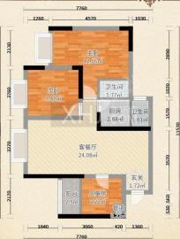 中信城右岸  3室2厅2卫    1700.0元/月