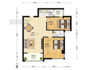 印象金沙  2室2厅1卫    155.0万