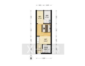 汇锦广场  1室1厅1卫    65.0万