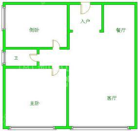 南湖锦苑  2室1厅1卫    1600.0元/月