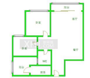 清水苑  2室1厅1卫    1900.0元/月