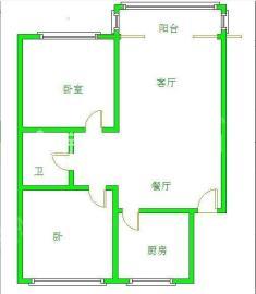 南湖锦苑  2室1厅1卫    1700.0元/月