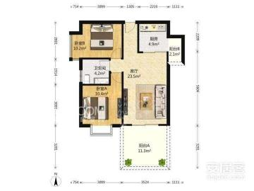 南阳盛世  2室2厅1卫    1600.0元/月