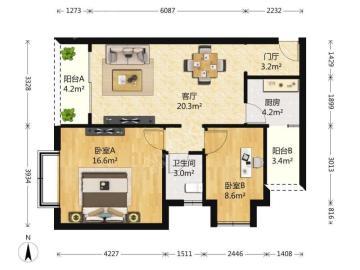 建发天府鹭洲  2室2厅1卫    205.0万