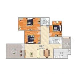 南湖国际4期  3室2厅2卫    222.0万