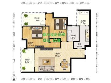 华润凤凰城一期  2室2厅2卫    264.0万
