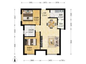 绿地之窗  2室2厅1卫    180.0万
