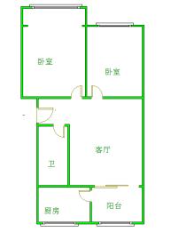 东坡小区  2室1厅1卫    135.0万