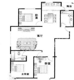南湖逸家  3室2厅1卫    2050.0元/月