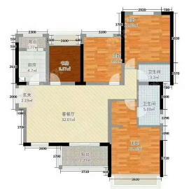 建发翡翠鹭洲  4室2厅3卫    300.0万