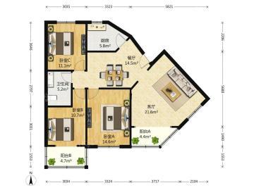 金鹏街280号院  3室1厅1卫    180.0万