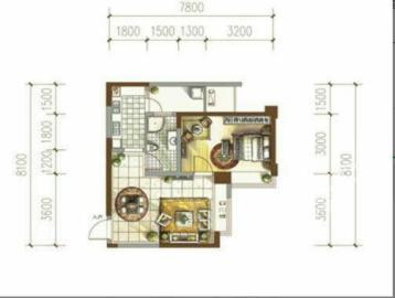 戛纳滨江  1室1厅1卫    95.0万