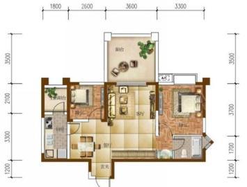 南湖半岛  2室2厅1卫    140.0万