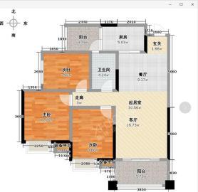 天府美岸  3室2厅1卫    110.0万