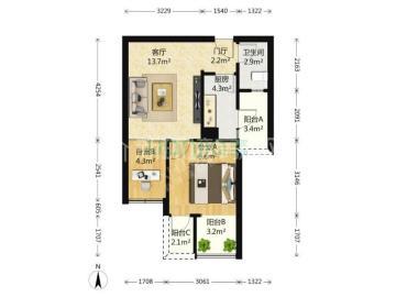 华润凤凰城二期  2室1厅1卫    145.0万
