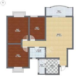 慕和南道  3室2厅1卫    3000.0元/月
