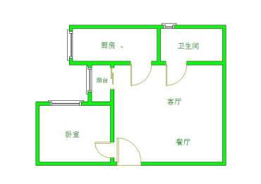 左右小區  1室1廳1衛    54.0萬