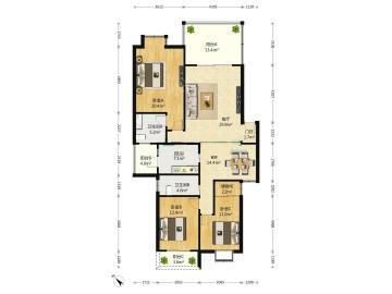 金沙园二期  3室2厅2卫    348.0万