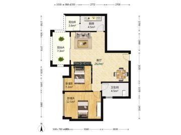公园西  2室1厅1卫    215.0万