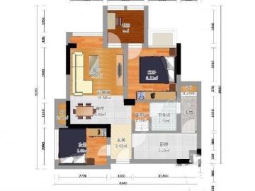 蓝光coco金沙一期  3室2厅1卫    139.8万