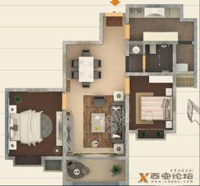 罗马景福城  3室2厅1卫    3200.0元/月