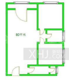 清河庭苑  2室2厅1卫    1400.0元/月