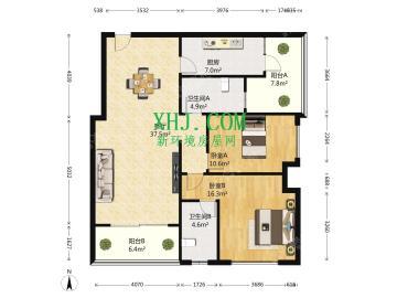 金控时代广场  2室2厅2卫    240.0万