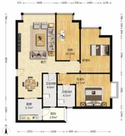 蜀都中心一期  3室2厅2卫    248.0万