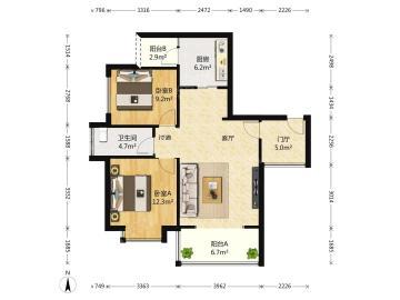 汇锦城A区  2室2厅1卫    270.0万