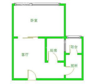 南湖锦苑  1室2厅1卫    1400.0元/月