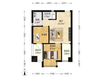 左右小区  2室2厅1卫    75.0万