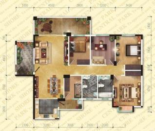 航天城上城  3室2厅2卫    5800.0元/月