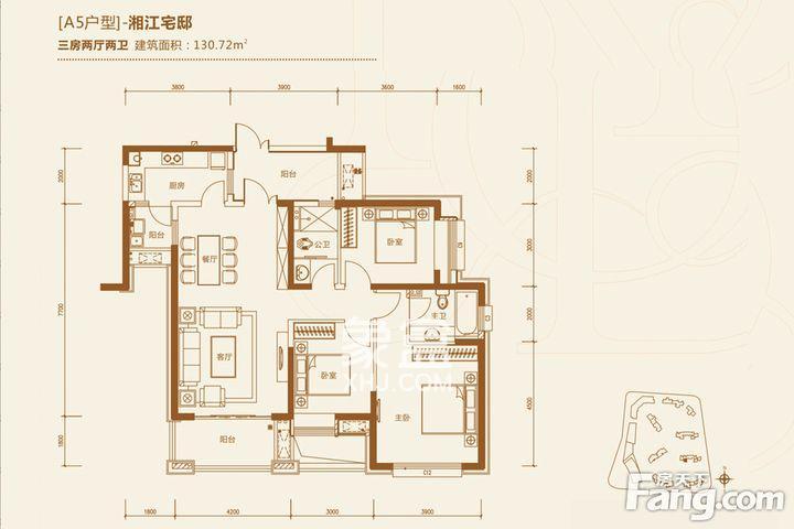 保利国际广场  5室2厅3卫    8500.0元/月
