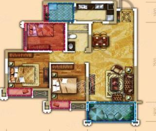 天府美岸  3室2厅2卫    150.0万