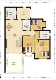 南湖国际4期  3室2厅2卫    4000.0元/月