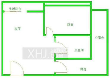 icon尚郡  1室1厅1卫    90.0万