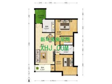 华润凤凰城一期  2室1厅1卫    300.0万
