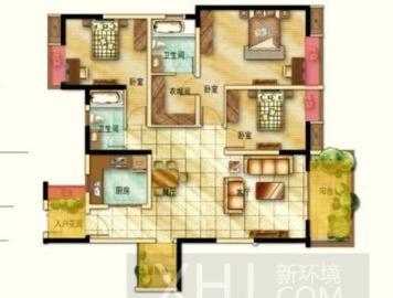 航天城上城  3室2厅2卫    260.0万