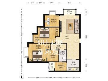 蜀都中心一期  3室2厅2卫    260.0万