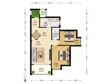 天悦府  2室2厅2卫    300.0万