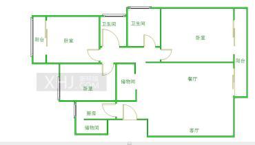 米兰香洲  3室2厅2卫    315.0万